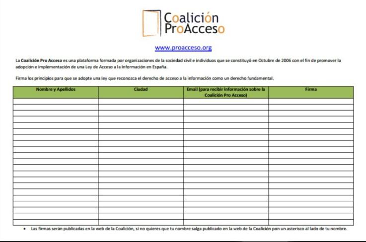 Coalicion Pro Acceso
