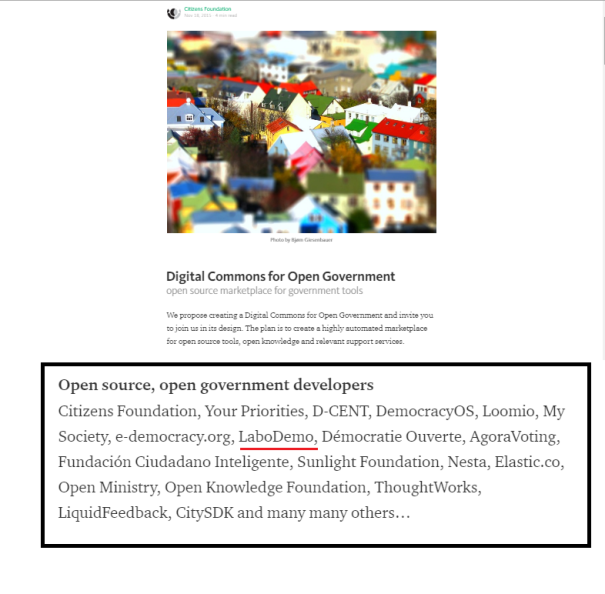 Digital Commons for Open Government
